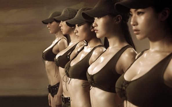دختران ارتش شاهنشاهی با ممه های شاهکار